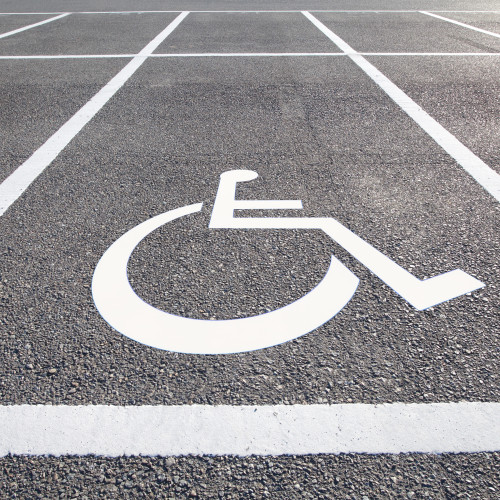 Handicap parking areas reserved for disabled people